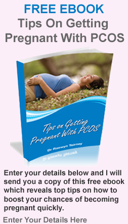 tips on getting pregnant with PCOS free ebook